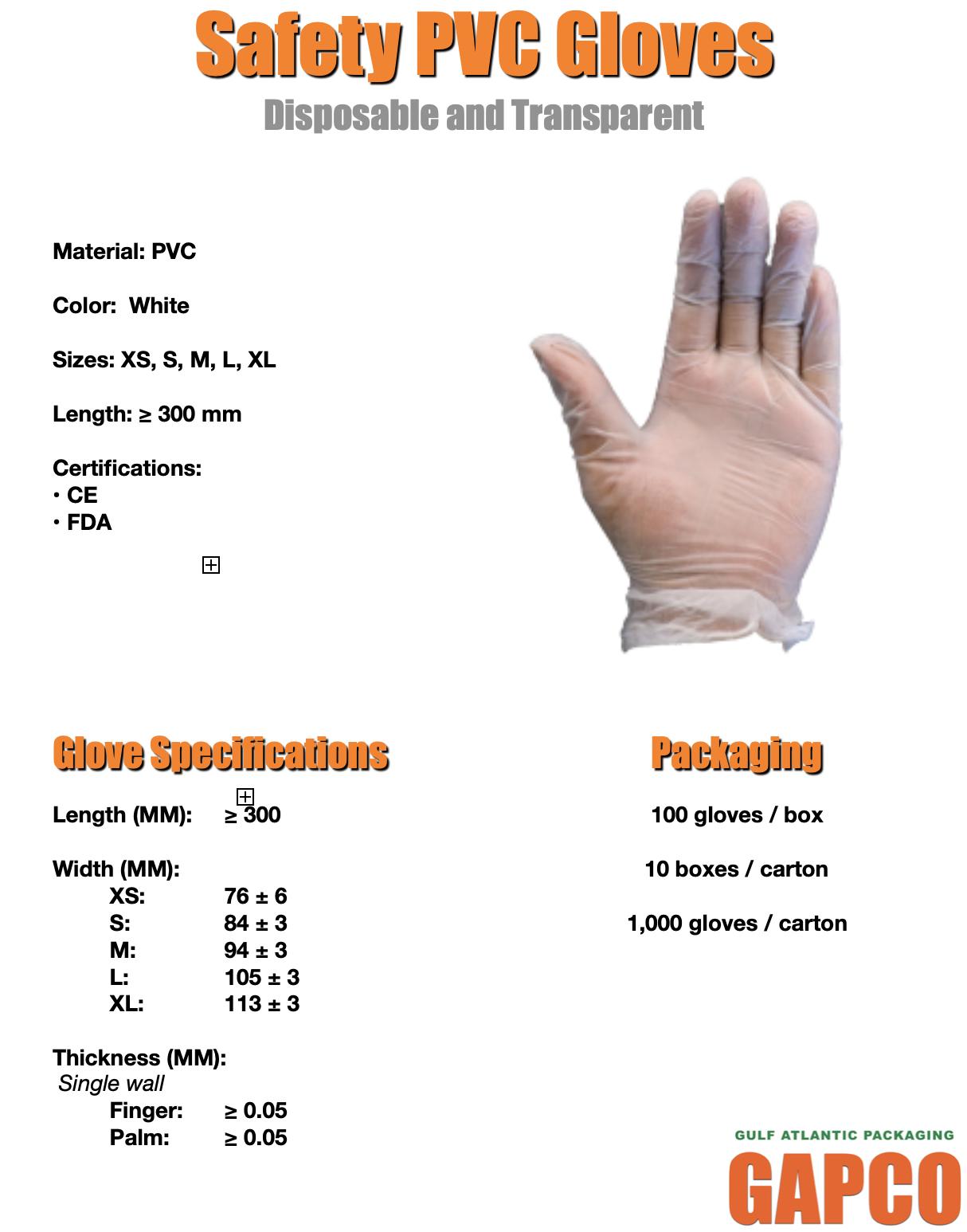 Disposable Vinyl Gloves  - Literature