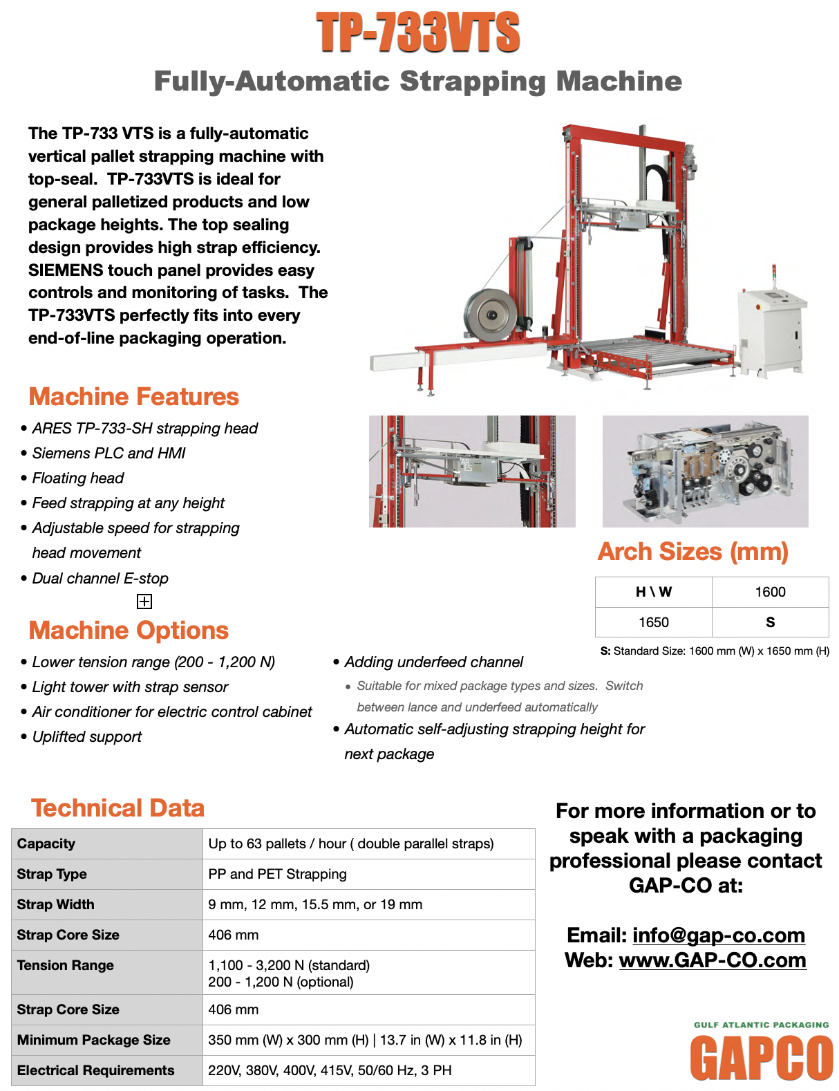 733VTS Vertical Fully-Automatic Strapping Machine